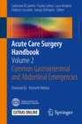 Image for Acute Care Surgery Handbook: Volume 2 Common Gastrointestinal and Abdominal Emergencies
