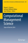 Image for Computational management science  : state of the art 2014