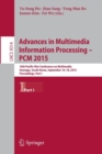 Image for Advances in multimedia information processing - PCM 2015  : 16th Pacific-Rim Conference on Multimedia, Gwangju, South Korea, September 16-18, 2015, proceedingsPart 1