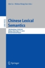 Image for Chinese lexical semantics  : 16th Workshop, CLSW 2015, Beijing, China, May 9-11, 2015, revised selected papers