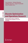 Image for Discrete Optimization and Operations Research : 9th International Conference, DOOR 2016, Vladivostok, Russia, September 19-23, 2016, Proceedings
