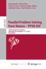 Image for Parallel Problem Solving from Nature - PPSN XIV : 14th International Conference, Edinburgh, UK, September 17-21, 2016, Proceedings