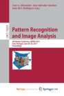 Image for Pattern Recognition and Image Analysis : 8th Iberian Conference, IbPRIA 2017,  Faro, Portugal, June 20-23, 2017, Proceedings