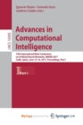 Image for Advances in Computational Intelligence : 14th International Work-Conference on Artificial Neural Networks, IWANN 2017, Cadiz, Spain, June 14-16, 2017, Proceedings, Part I