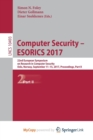 Image for Computer Security - ESORICS 2017 : 22nd European Symposium on Research in Computer Security, Oslo, Norway, September 11-15, 2017, Proceedings, Part II
