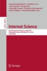 Image for Internet Science : 4th International Conference, INSCI 2017, Thessaloniki, Greece, November 22-24, 2017, Proceedings
