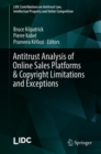 Image for Antitrust analysis of online sales platforms copyright limitations and exceptions