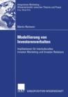 Image for Modellierung Von Investorenverhalten: Implikationen Fur Interkulturelles Investor Marketing Und Investor Relations