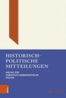 Image for Historisch-politische Mitteilungen : Archiv fur Christlich-Demokratische Politik. Band 26