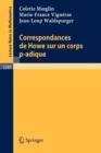 Image for Correspondances De Howe Sur UN Corps p-Adique