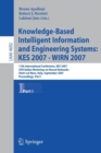 Image for Knowledge-based intelligent information and engineering systems  : 11th International Conference, KES 2007, Vietri sul Mare, September 12-14, 2007, proceedingsPart 1