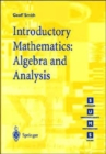 Image for Introductory mathematics  : algebra and analysis
