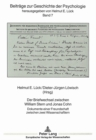 Image for Der Briefwechsel Zwischen William Stern Und Jonas Cohn : Dokumente Einer Freundschaft Zwischen Zwei Wissenschaftlern