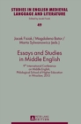 Image for Essays and Studies in Middle English : 9th International Conference on Middle English, Philological School of Higher Education in Wroclaw, 2015