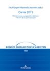 Image for Dante 2015 : 750 Jahre Eines Europaischen Dichters / 750 Anni Di Un Poeta Europeo