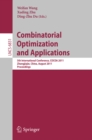 Image for Combinatorial optimization and applications : 6831