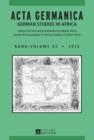 Image for Acta Germanica: German Studies in Africa : 43
