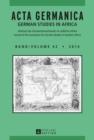 Image for Acta Germanica: German Studies In Africa : 42