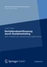 Image for Verhaltensbeeinflussung durch Sozialmarketing: Eine Analyse der Gestaltungsmoglichkeiten : 2