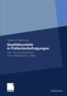 Image for Qualitatsurteile in Patientenbefragungen: Von der Zufriedenheit zum reflektierten Urteil