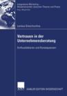 Image for Vertrauen in Der Unternehmensberatung : Einflussfaktoren Und Konsequenzen