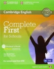 Image for Complete First for Schools for Spanish Speakers Student's Pack Without Answers (Student's Book with CD-ROM, Workbook with Audio CD)