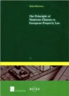 Image for The Principle of Numerus Clausus in European Property Law