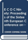 Image for ECOC 90, European Conference on Optical Communications : Proceedings of the 16th European Conference on Optical Communication, Amsterdam, 1990