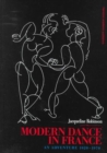 Image for Modern dance in France (1920-1970)  : an adventure