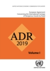 Image for ADR applicable as from 1 January 2019 : European agreement concerning the international carriage of dangerous goods by road