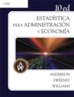 Image for Estadistica para administracion y economia, 10a. Ed.