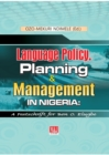 Image for Language Policy, Planning and Management in Nigeria