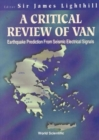 Image for Critical Review Of Van, A: Earthquake Prediction From Seismic Electrical Signals