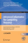Image for Advanced Informatics for Computing Research : Second International Conference, ICAICR 2018, Shimla, India, July 14-15, 2018, Revised Selected Papers, Part I
