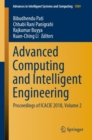 Image for Advanced Computing and Intelligent Engineering: Proceedings of ICACIE 2018, Volume 2 : 1089