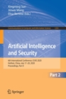 Image for Artificial Intelligence and Security : 6th International Conference, ICAIS 2020, Hohhot, China, July 17-20, 2020, Proceedings, Part II