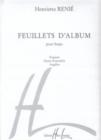 Image for FEUILLETS DALBUM HARP
