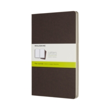 Image for Moleskine Coffee Brown Large Plain Cahier Journal (set Of 3)