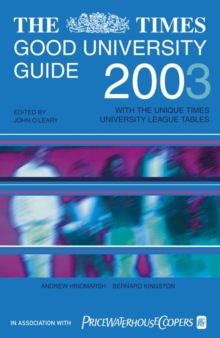 Image for The Times good university guide 2003