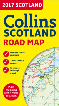 2017 Collins Scotland Road Map