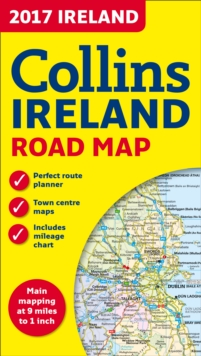 2017 Collins Ireland Road Map