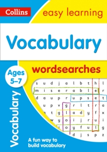 Image for Vocabulary Word Searches Ages 5-7 : KS1 English Home Learning and School Resources from the Publisher of Revision Practice Guides, Workbooks, and Activities.