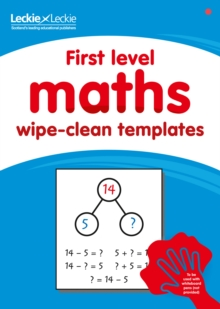 Image for First level wipe-clean maths templates : For the Curriculum for Excellence