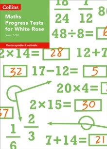 Image for Year 5/P6 maths progress tests for white rose