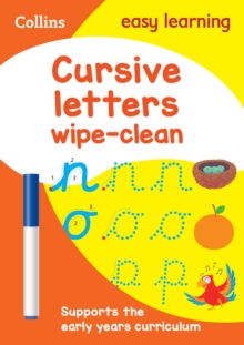 Image for Cursive Letters Age 3-5 Wipe Clean Activity Book : Prepare for Preschool with Easy Home Learning