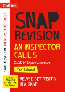 Image for An inspector calls  : new GCSE grade 9-1 English literature Edexcel text guide