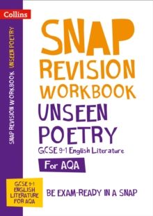 Image for AQA Unseen Poetry Anthology Workbook : For the 2020 Autumn & 2021 Summer Exams