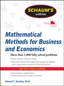 Image for Schaum's outline of mathematical methods for business and economics