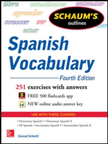 Image for Schaum's outline of Spanish vocabulary