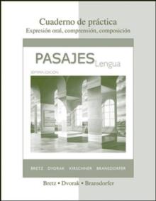 Image for Cuaderno de practica to accompany Pasajes